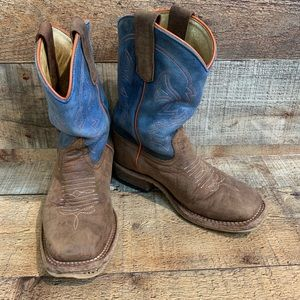 Anderson Bean Toast Bison Blue Mad Dog Top Boot 13